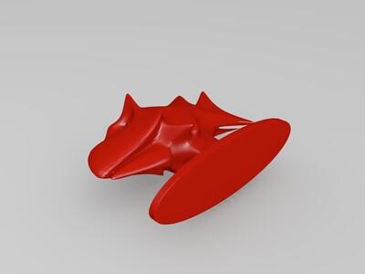 恐龙鱼摆件-3d打印模型