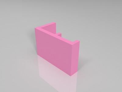 简约手机支架-3d打印模型