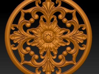圆形雕花3-3d打印模型