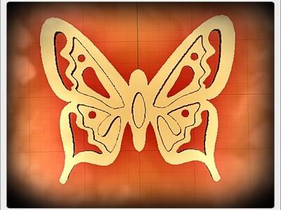 蝴蝶饰品-3d打印模型