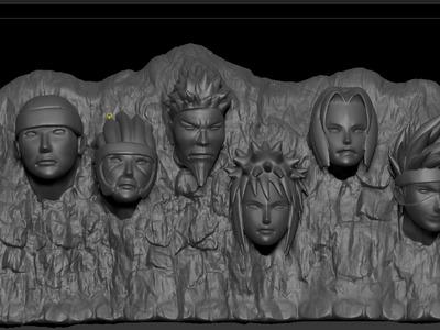 火影岩-3d打印模型