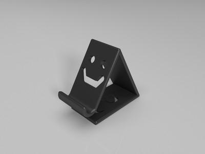 手机支架(带笑脸)Made by Suntoy-3d打印模型