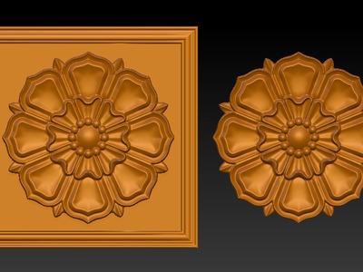 雕花3-3d打印模型