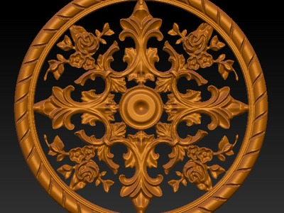 圆形雕花4-3d打印模型