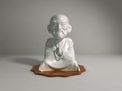 Q版佛像精雕达摩罗汉打坐-3d打印模型