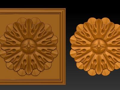 雕花图案6-3d打印模型