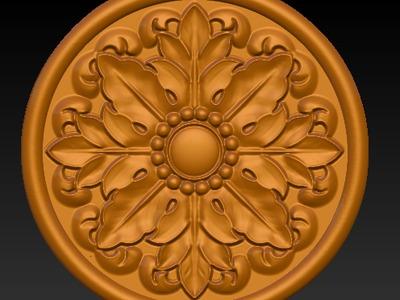 圆形雕花5-3d打印模型
