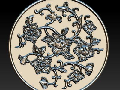 圆形雕花6-3d打印模型