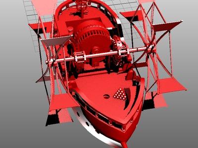 风力发电船-3d打印模型