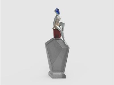 香水瓶-3d打印模型