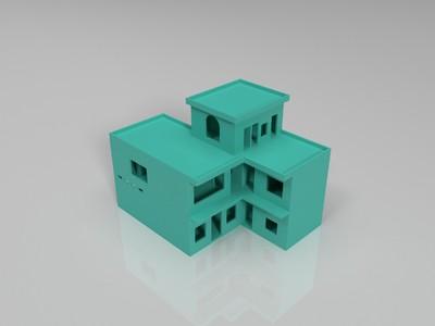农村楼房-3d打印模型