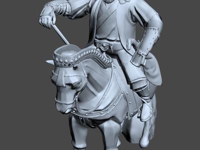 骑马的成吉思汗-3d打印模型