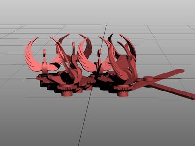 齿轮天鹅-3d打印模型