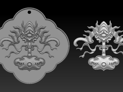 雕花牌子-3d打印模型
