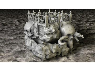 头骨种植者-3d打印模型
