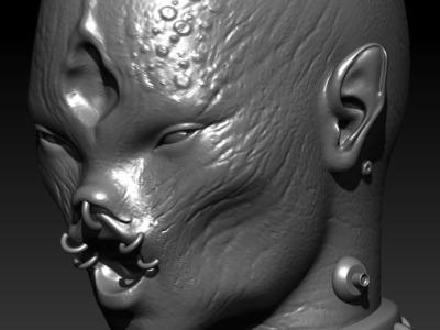 怪物头模T004-3d打印模型