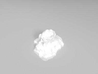 墙角凶凶一小只(中空)-3d打印模型