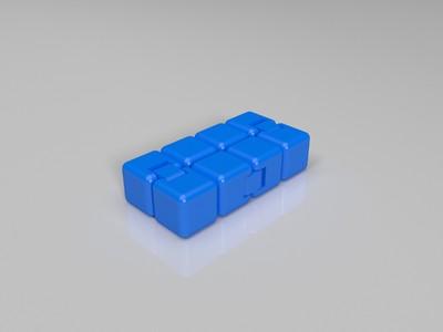 无限活动方块(指尖积木)-3d打印模型