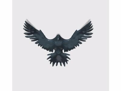 鹰状标志 乌鸦-3d打印模型