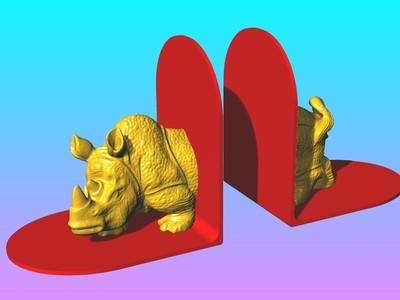 犀牛书立-3d打印模型