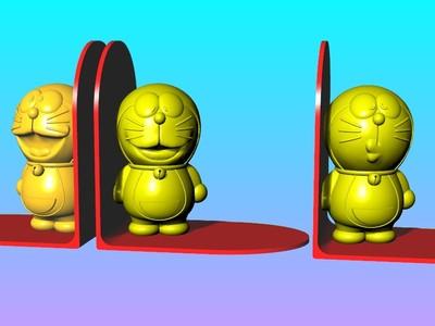 哆啦A梦书立-3d打印模型