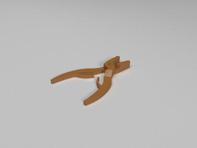 钳子-3d打印模型