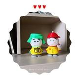 绿帽子和红帽子娃