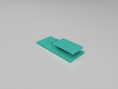 边门卡扣-3d打印模型