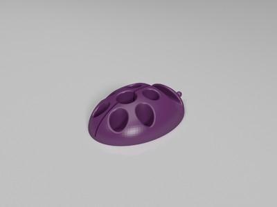 七星瓢虫手机支架-3d打印模型