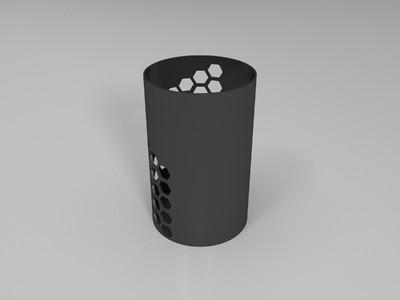 半镂空笔筒-3d打印模型