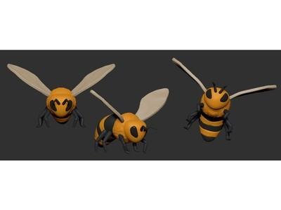 蜜蜂-3d打印模型