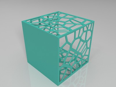 方形笔筒-3d打印模型