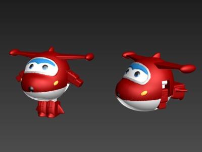 超级飞侠乐迪(可动)-3d打印模型