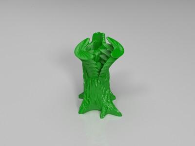 绝木遁-3d打印模型