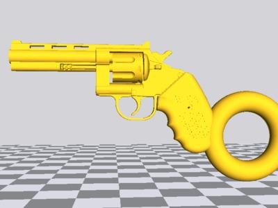 柯尔特左轮标准版钥匙链吊坠-3d打印模型