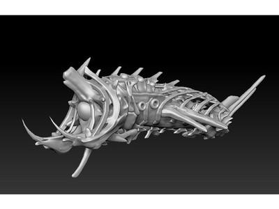 鱼骨船-3d打印模型
