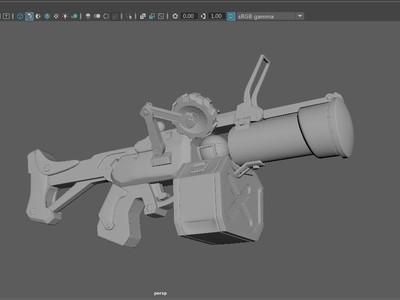 守望先锋 狂鼠的武器-3d打印模型