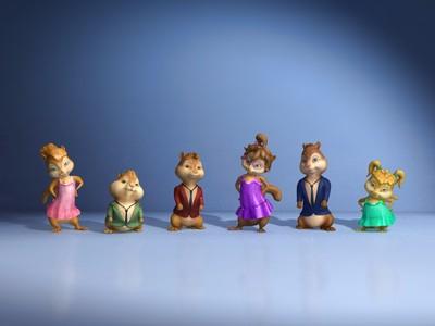 可爱花栗鼠 鼠来宝-3d打印模型
