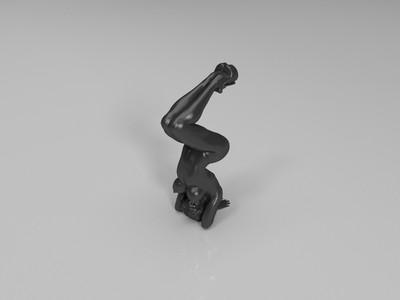 倒立瑜伽动作无底座-3d打印模型
