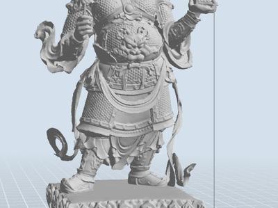 持国天王(已修复所有错误,已修成精模)-3d打印模型