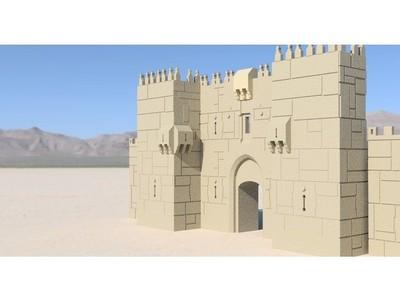 老城耶路撒冷 - 大马士革门-3d打印模型