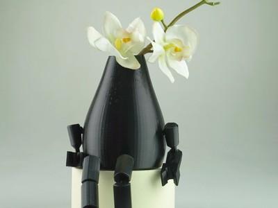 可动花瓶人偶 Vase 分享-3d打印模型