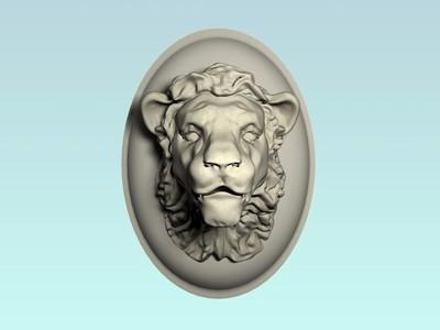 狮子头壁挂浮雕-3d打印模型