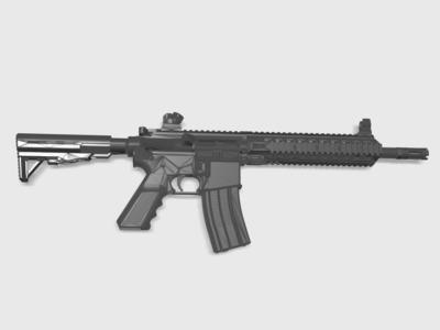 战术轻量化小托(BB枪水弹枪通用)-3d打印模型