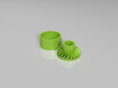 水冷箱内置流速计-3d打印模型