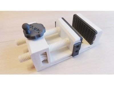 小手摇台钳v2.0-3d打印模型