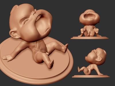 茶宠 撒尿娃娃 ZB精雕 3d打印 ztl obj格式-3d打印模型