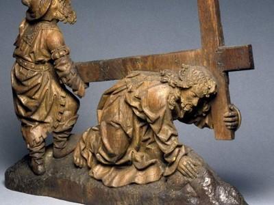 基督跌倒在十字架下面-3d打印模型