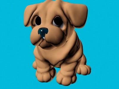 肉嘟嘟的小狗-3d打印模型