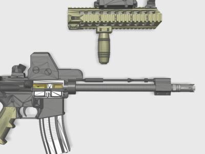 M4导气管装饰套件(17-22毫米外管都可以用)-3d打印模型